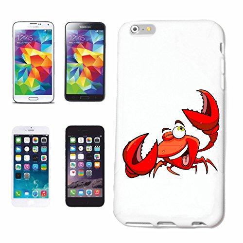 """cas de téléphone iPhone 7+ Plus """"CRAB CANCER DE PÊCHE MEDITERRANEE FISH SEAFOOD"""" Hard Case Cover Téléphone Covers Smart Cover pour Apple iPhone en blanc"""