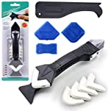 3 in 1 Caulking Tools, Silicone Caulk Remover Grout Scraper with Reuse and Replace 5 Silicone Pads, Great Caulk Tools…