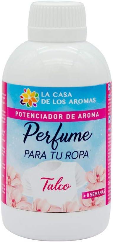 La Casa de los Aromas, Perfume para tu Ropa Aroma Talco, Potenciador de Aroma para tu ropa, en Lavadora o a Mano, 250ml