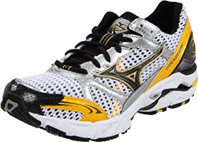 Mizuno Men's Wave Rider 14 Running Shoe,White/Spectre yellow-Anthracite,16 M US