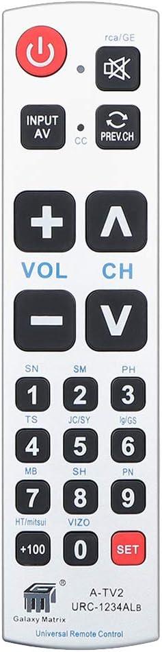 Alkia Big Button Universal Remote Control A Tv2 Elektronik