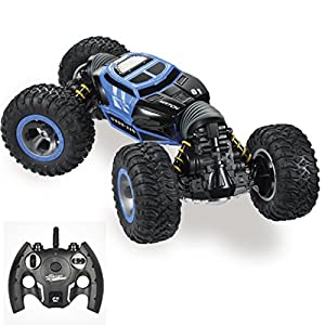 Remote Control Car for kids & Adults, 1/18 Off Road, 2.4GHz, 4WD, High Speed RC 30KM/H Racing , One Key Transform,Double Side Rolling Stunt Car,Crawler Buggy RC Monster