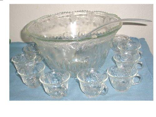 Indiana Princess Punch Bowl & 12 Cups