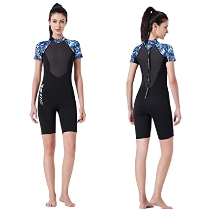 a33fd36729 Purplert Wetsuit for Men and Women One - Piece Diving Suit 1.5MM SCR  Neoprene Thickened