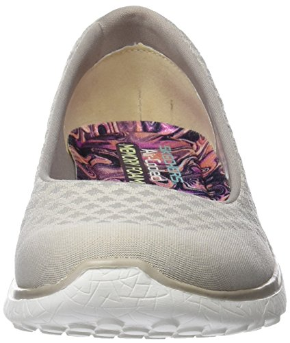 Natural Up Skechers Microburst Sneaker One Beige Donna qTEYT