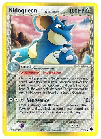 Pokemon EX Dragon Frontiers #7 Nidoqueen Holofoil Card [Toy] (Pokemon Cards Steel Type compare prices)