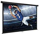 VonHaus 80 Inch Projector Screen - Manual Pull Down - 80'' Widescreen Indoor Home Theater/Cinema Platform - 16:9 Aspect Ratio Projection Screen - Suitable For HDTV/Sport / Movie/Gaming