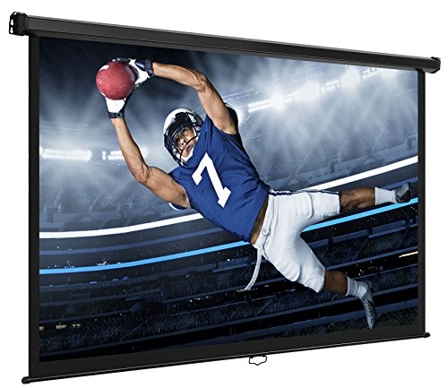 """VonHaus 80 Inch Projector Screen - Manual Pull Down - 80"""" Wi"""