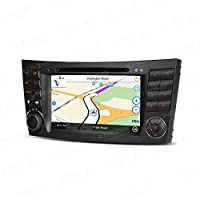 XTRONS 7 Inch Car Stereo Radio Touch Screen DVD Player GPS Screen Mirroring Dual CANbus for Mercedes-Benz E-Class W211 Kudos Map Card Included