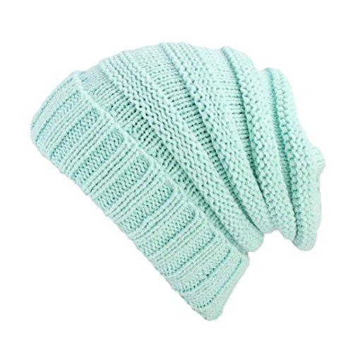 Women Ladies Retro Winter Knitting Hat Turban Brim Hat Cap Pile Cap (E) ()