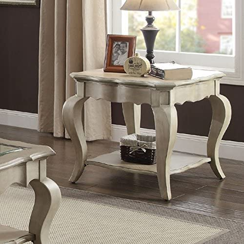 ACME Chelmsford End Table – – Antique Taupe