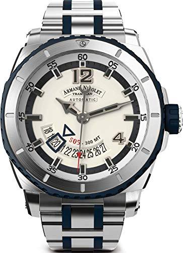 Armand Nicolet Gents-Wristwatch S05 Date 300M Analog Automatic A710AGU-AK-MA4710GU