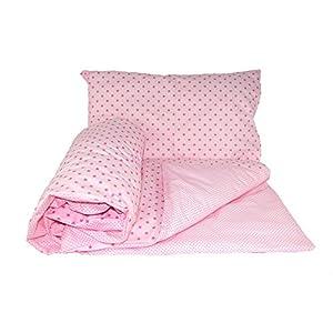 Baby's Comfort Parure de lit réversible pour bébé 2 pièces housse de couette et taie d'oreiller 72