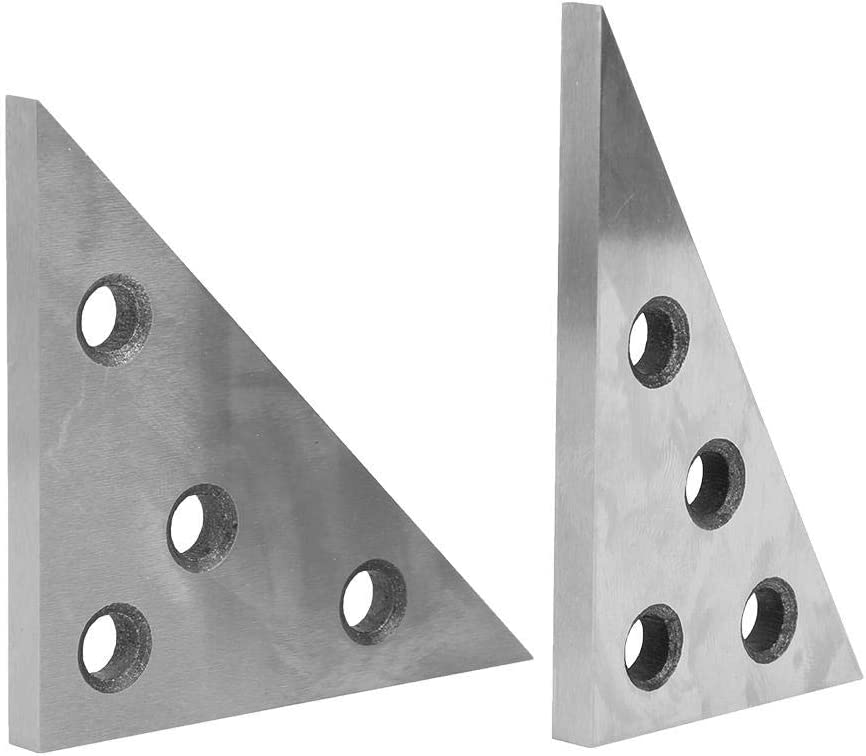 Angle Plate Set Storage Box Angle Block,` High Hardness High Accuracy Manganese Steel Precision for Machinist Measuring Workshop Industrial