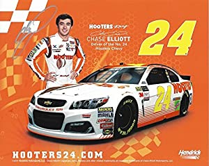 AUTOGRAPHED 2017 Chase Elliott #24 Hooters Racing Chevy TALLADEGA RACE (Hendrick Motorsports) Extremely Rare & Limited Signed Collectible Picture 8X10 Inch NASCAR Hero Card Photo with COA from Trackside Autographs