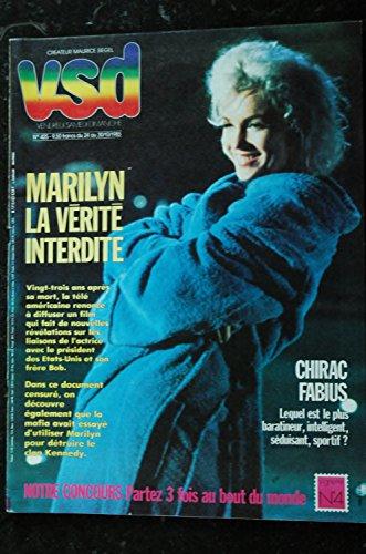 VSD 425 OCTOBRE 1985 MARILYN LA VERITE INTERDITE