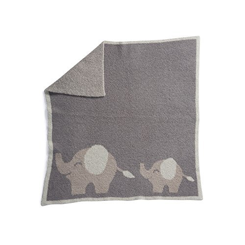 Barefoot Dreams Cozychic Follow Me Blanket - Elephant, Dove Gray/Stone/Cream, 30''x32'' by Barefoot Dreams (Image #2)