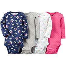"""Carter's Baby Girls' """"Spring Dawning"""" 4-Pack L/S Bodysuits"""