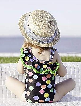 FS-Traje de baño de las niñas:Bebé Chica Playa A Lunares ...