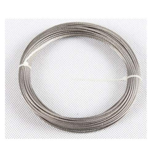 Marine Grade T316 Stainless Steel Wire Rope Cable 1//32 7x7~100