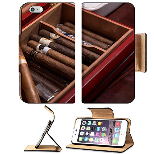 Costumes Girl Aristocratic (Luxlady Premium Apple iPhone 6 Plus iPhone 6S Plus Flip Pu Leather Wallet Case IMAGE ID: 34137718 An expensive wooden box with great Cuban Close)