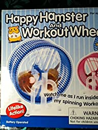 Happy Hamster Pet with WHEEL RUNNER Battery Operated Kid\'s Toy
