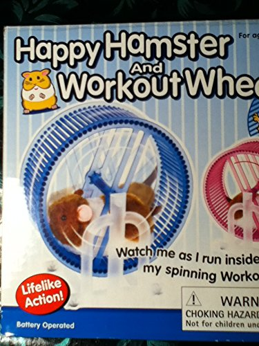 Happy Hamster Pet with WHEEL RUNNER Battery Operated Kid's Toy by Westminster (Image #2)