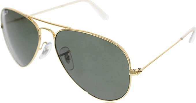 Ray-Ban Classic Aviator Sunglasses Arista Gold Crystal Green Polarised  RB3025 001 58 55  Amazon.co.uk  Clothing f462837064