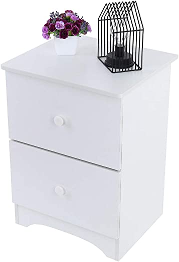 Assemble Storage Cabinet Bedroom Bedside Locker Double Drawer Bedside Table Nightstand with Drawer – Bedside Furniture Night Stand End Table Dresser