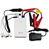 Teckology Slimest Compact Car Jump Starter Multifunction 8000mAh Portable External Power Bank Universal Charger for Apple, Samsung Android White