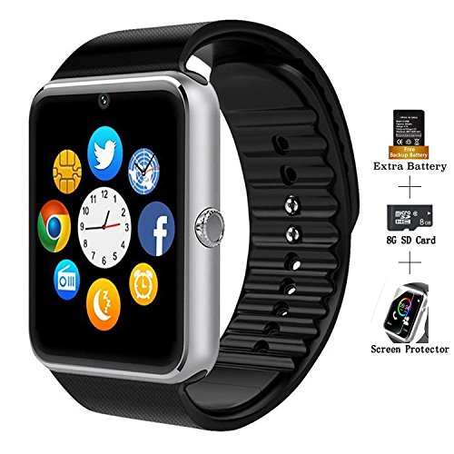 COSROLE Smart Sports Watch, Bluetooth V4.0 Smart Watch Sport Wireless Monitor Wristband with Sleep Monitoring Pedometer Call Message Reminder Anti Lost for iOS Android Phones - Black