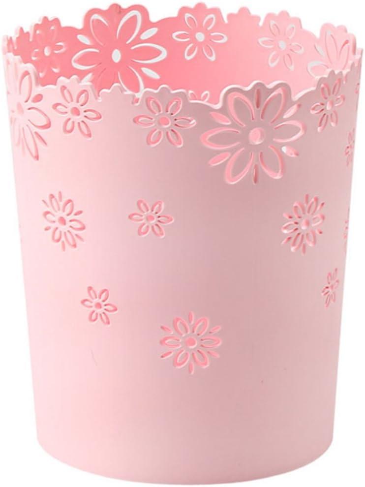 Rose Bureau Salon Poubelle Enfant Decorative Corbeille Vintage pour Cuisine Chambre Salle de Bain Caf/é Seciie Corbeille /à Papier