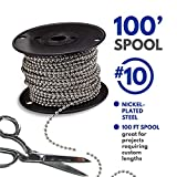 #10 Beaded Ball Chain – Nickel Plated Steel 100