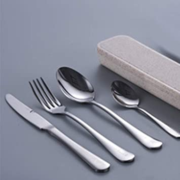 Juego de cuchillos y tenedores de acero inoxidable caja de ...