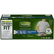 Depend Fit-Flex LARGE Maximum Absorbency Underwear for Men, 84 ct.