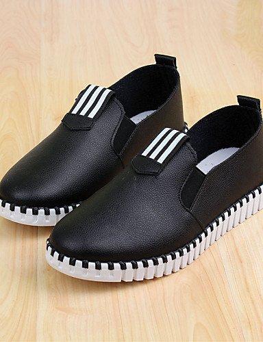 7 Casual White Zapatos Rojo us8 Eu37 Tacón Eu39 Bajo 5 Mocasines 5 us6 Uk6 Blanco De Semicuero Gyht Cn37 Negro Red Redonda Uk4 5 Cn39 Mujer Zq Punta zwBHzf