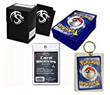 Pokemon 50 Cards Pack w/ Rares & Holos Deck Box, Sleeves, Keychain No DUPLICATES