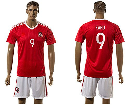 - 2016 Popular Wales 9 Hal Robson Kanu Home Football Jersey In Red
