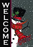 "Toland Home Garden 100563 Snowman Welcome Decorative Winter Christmas Double Sided House Flag, 28"" x 40"", 28 x 40 Inch"
