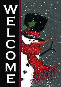 Toland Home Garden 110563 Snowman Welcome Garden Flag