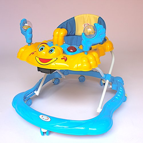 baby walker sea explorer activity board music lights 3 height adjustable with interactive sounds choice of 6 colours