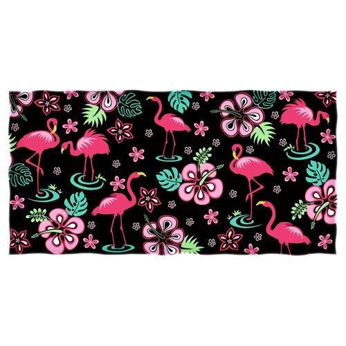Dawhud Direct Pink Flamingo Hibiscus Towel