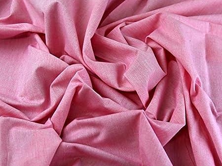 Tejido liso de algodón Chambray luz Denim vestido Tela Rosa – por metro: Amazon.es: Hogar