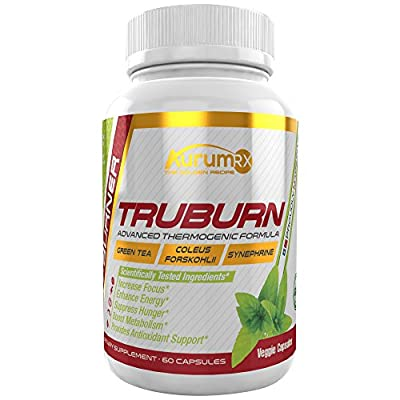 TRUBURN #1 Best Thermogenic Weight Loss - Suppress Hunger, Increase Focus, Energy & Metabolism for Men & Women (60 Veggie Capsules)