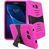 Galaxy Tab A 7.0 inch Case, [Heavy Duty] Samsung Galaxy Tab A 7.0 (2016 Release) SM-T280 / SM-T285 Tablet Bvgande Le Mes Series [Dual Layer] Hybrid Full-body Protective Kickstand Case (Pink)