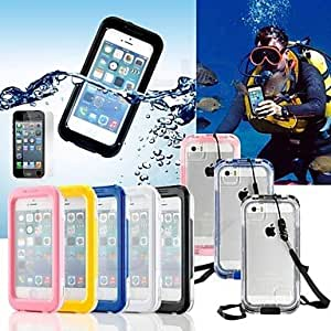 YXF Perfect Designed Cool All-around Waterproof Hard Case with Cleaning Cloth for iPhone (Assorted Colors) , Pink