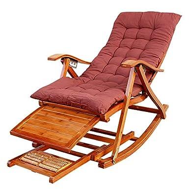 Amazon.com: Silla plegable de madera con reposabrazos para ...