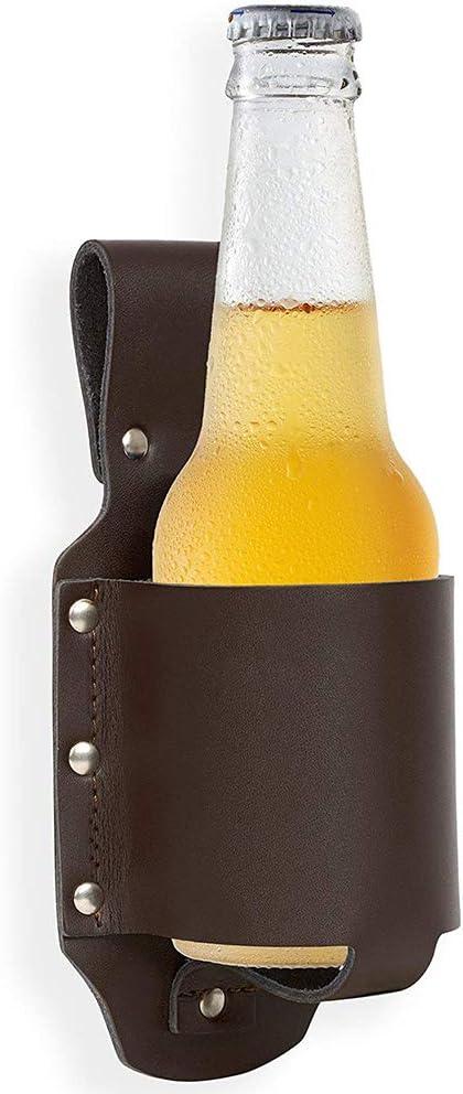 Love Home Cerveza Holster,Cartuchera para Cerveza,Cartuchera de Cuero para Botellas y Latas de hasta,Holster Soporte de Cerveza-Cerveza Accesorios,2Pcs Brown: Amazon.es: Hogar