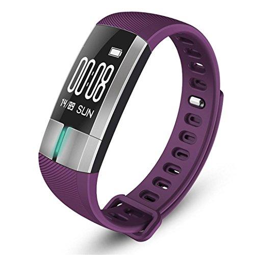 Joint Functional G20 Bluetooth Smart Watch Blood Pressure ECG Date Heart Rate Monitor Pedometer Sleep Wristband (Purple)