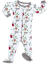 Organic Baby Boys Girls Footed Sleeper Pajama 100% GOTS Certified Organic Cotton (6 Months-5 Toddler)